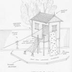 Tree house sketch plans design concept